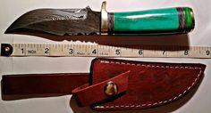 "Handmade Pakka Wood 232+ Layers Damascus Steel 8"" Fixed Knife - With Genuine Leather Sheath $79.99  – Everlasting Essentials"