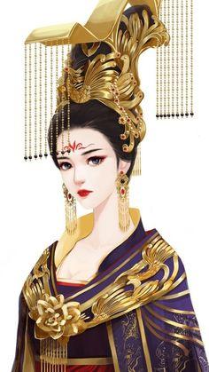 Beautiful Fantasy Art, Beautiful Anime Girl, Ancient Beauty, Korean Art, China Art, Ancient China, Anime Art Girl, Fantasy Girl, Kawaii Anime