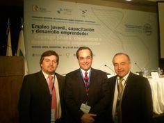 con Martín Burt (Paraguay) y Miguel Hoyos (Bolivia)