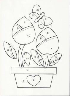 patrones de flores para patchwork - Buscar con Google