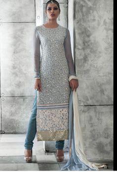 #Sky Blue #Net #Long #Pakistani #Salwar #Kameez #nikvik  #usa #designer #australia #canada #freeshipping #fashion #dress #suits #sale
