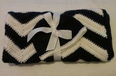 ready to ship crocheted chevron baby blanket by sweetfaithboutique, $52.00