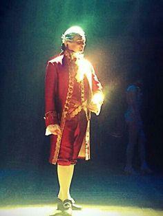 Jonathan Groff, as King George III in Hamilton Broadway