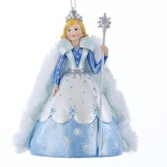 "The Jolly Christmas Shop - Kurt Adler 4.75"" Frozen Snow Queen Christmas Ornament C8833, $14.99 (http://www.thejollychristmasshop.com/kurt-adler-4-75-frozen-snow-queen-christmas-ornament-c8833/?page_context=category"
