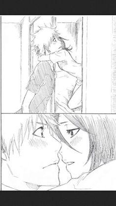 Ichigo x Rukia Bleach Ichigo And Rukia, Kuchiki Rukia, Bleach Anime, Awesome Anime, Anime Love, Mega Anime, Bleach Couples, Cute Anime Couples, Anime Ships