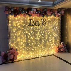 Letters for photocall with light curtain Sweet 16 Party Decorations, Quince Decorations, Birthday Balloon Decorations, Birthday Balloons, Birthday Party For Teens, 18th Birthday Party, Sweet 16 Birthday, Girl Birthday, Color Plata