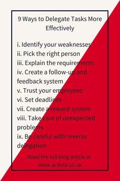 9 Ways to Delegate Tasks More Effectively. #timemanagement #productivity