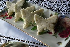 Butterfly Cucumber-Basil Tea Sandwiches (scroll way down for recipe)