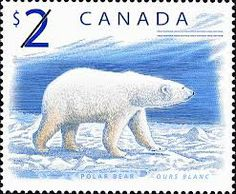 Canada stamp - Polar Bear submitted by evan with tags: Canadian Coins, Canadian History, Canadian Beer, Thinking Day, Fauna, Stamp Collecting, Mail Art, Postage Stamps, Polar Bears