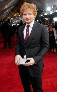 Ed Sheeran in Gucci at the 2014 Grammy awards. #GRAMMYS #REDCARPET