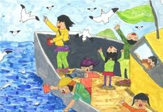 3학년 미술 Art Lessons For Kids, Art For Kids, Drawing For Kids, Elementary Art, Love Art, Art Education, Art Projects, Arts And Crafts, Children
