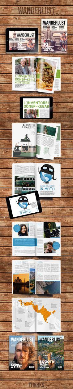 WANDERLUST - print design - magazine - ipad - digital publishing - infographic - dps - inDesign - rivista di viaggi