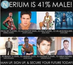 The great thing about Nerium is that it's just as good for men as it is for women.
