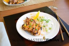 The Slow Roasted Italian: Simple Asian Honey Grilled Chicken with Marinade