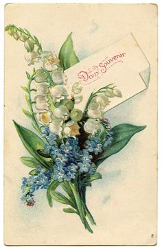 *The Graphics Fairy LLC*: Vintage Floral Graphic - Lily of the Valley - French