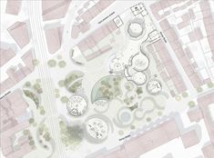Image 9 of 14 from gallery of Kengo Kuma and Cornelius+Vöge Release Plans for Hans Christian Andersen Museum in Odense. Courtesy of Kengo Kuma & Associates, Cornelius+Vöge, and MASU planning Concept Models Architecture, Architecture Concept Diagram, Architecture Portfolio, Architecture Plan, Landscape Architecture, Architecture Diagrams, Kengo Kuma, Odense, Landscape Design Plans