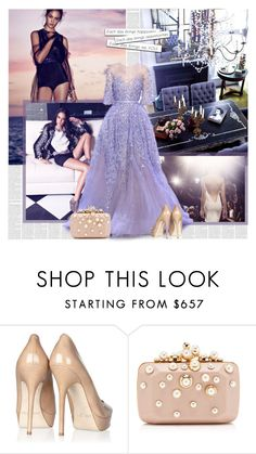 """""""Maxi"""" by bklana ❤ liked on Polyvore featuring RALPH & RUSSO, Jimmy Choo and Elie Saab"""