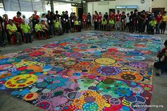circle painting.....collaborative project?