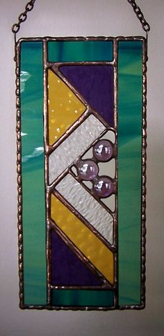 Stained Glass panelAbstract by PineTreeGlassWorks on Etsy, $38.00