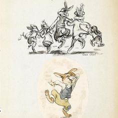 """""""Preliminary model drawings from Disney's """"Song of the South"""" (1946) by animator Marc Davis."""""""
