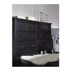 dresser for dinning room HEMNES dresser - black-brown - IKEA Hemnes Drawers, 8 Drawer Dresser, Ikea Dresser, Wide Chest Of Drawers, Ikea Furniture Makeover, Cheap Furniture, Black Dressers, Black Rooms, Ikea Bedroom