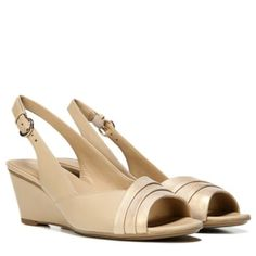 Naturalizer Henny Shoes Taupe Gold