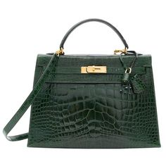070c2d2a9c48 55k Hermes Kelly Alligator Lisse Vert Emerald 32