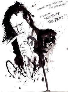 Nick Cave drawing