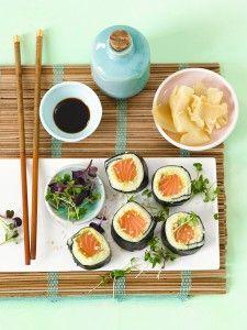 Kartuschi-Sushi mit Kartoffel, Nori & Lachs - kreativ und sehr geschmackvoll