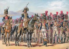 """""""Naples: Murat is reviewing the Grenadiers of his Guard"""", Patrice Courcelle & Jack Girbal"""