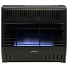 This ProCom Vent-Free Dual Fuel, Blue Flame Garage/Workshop Heater heats spaces up to 1000 sq. Heater us. Gas Garage Heater, Portable Garage, Free Gas, Garage Walls, Blue Flames, Black Cabinets, Central Heating, Heating Systems, Solar Energy