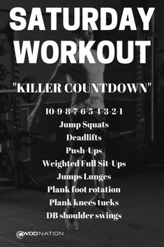 Saturday morning workout, I'M IN, YOU IN?==>Get FREE curated weekly workouts sent to your inbox. Crossfit Workouts At Home, Wod Workout, Body Workout At Home, Fitness Workout For Women, Weight Training Workouts, Crossfit Workout Program, Murph Workout, Rowing Workout, Workout Exercises