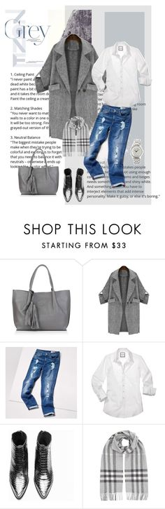 """""""Any day......"""" by style-stories ❤ liked on Polyvore featuring Nadia Minkoff, Tommy Hilfiger, Burberry and MICHAEL Michael Kors"""