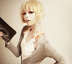 short bob with bangs, ou if I ever want to crazy change my hair