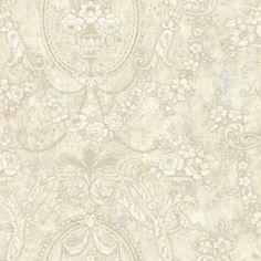 521-71907 Cream Cameo Floral - Fairwinds Studios Wallpaper
