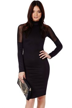 Black High Neck Midi Dress with MeshOASAP Giveaway, 10 pieces per day, till the end of 2014! Easiest way to get free clothing!