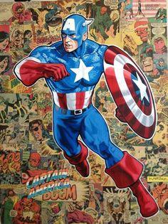 Marvel Comics, Marvel Art, Marvel Heroes, Hulk Marvel, Captain America Comic Books, Marvel Captain America, Starwars, America Sign, America Movie