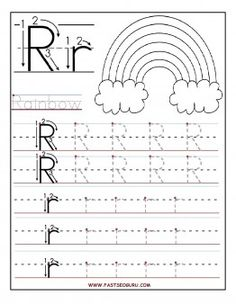 Printable letter R tracing worksheets for preschool - Printable Coloring Pages…