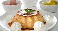 Receta de Bruno Oteiza de flan de manzana y acompañado con chantilly de queso mascarpone, un postre sencillo y nutritivo elaborado en el horno.