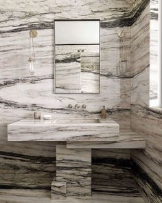 """Lindsey Goddard Interiors's Instagram post: """"No such thing as too much marble. By @jeanlouisdeniot"""" Retro Home Decor, Cheap Home Decor, Vanity Design, Cheap Bathrooms, Shower Remodel, Bathroom Inspiration, Bathroom Ideas, Bathroom Designs, Daily Inspiration"""