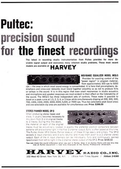 Classic 1960s advertisements for outboard audio gear.