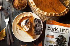 Top your pumpkin pie with our Dark Chocolate Pumpkin Seed bark! #barkTHINSidea