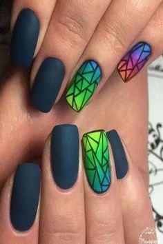 63 Classy Summer Nail Art To Make All The Heads Turn Towards You Classy summer nail art is in vogue because summers give you unlimited options to flaunt your nails in all possible peppy styles. Try these amazing spring nail art ideas. Neon Nail Art, Neon Nails, Glue On Nails, Matte Nails, Acrylic Nails, Acrylic Art, Nail Tip Designs, Best Nail Art Designs, Nails Design