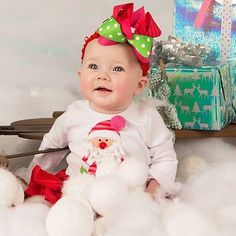 More mini session cuteness!! ❤️#shopsugarbabies #christmas #santa #pictures #photoshoot #photography #love #loveourcustomers #babygirl #babyboutique