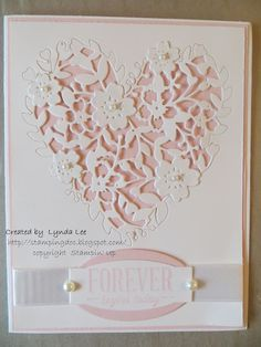Bloomin' Heart P ink PirouetteWedding card
