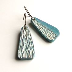 Redemption earrings. Hand carved Genevieve Williamson