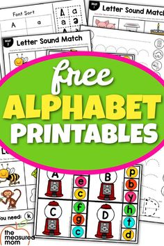 Are you wondering how to teach the alphabet to preschoolers? Or just looking for ideas? The Measure Mom has just what you are looking for. Find great resources for teaching the alphabet. Kindergarten Reading Activities, Early Learning Activities, Fun Activities To Do, Phonics Activities, Alphabet Activities, Teaching The Alphabet, Learning Letters, Reading Centers, Math Centers