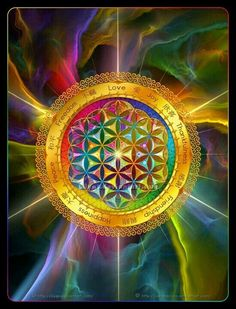 The Flower of Life is A sacred symbol that has contained the patterns of ALL creation since eternity.