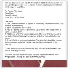 Honey-Cinnamon Water for weight loss