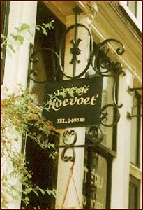 Eetcafe/ restaurant Koetvoet in de Lindenstraat Jordaan te Amsterdam